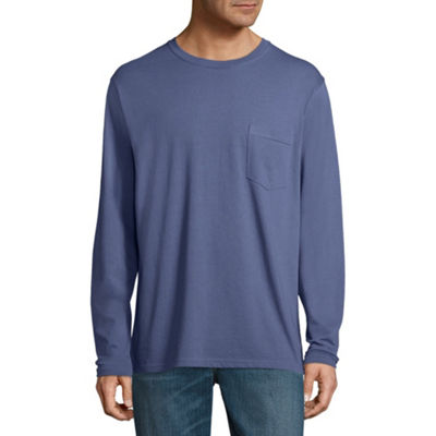 Stafford Long Sleeve Crew Neck Pocket T-Shirt