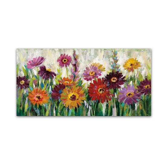 Trademark Fine Art Silvia Vassileva Jewel Daisy Gerbera Giclee Canvas Art