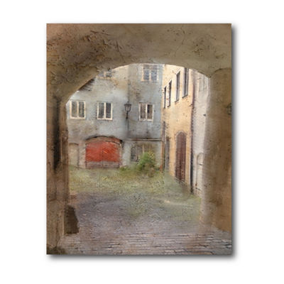 Courtyard Canvas Art