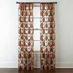 JCPenney Home Belgravia Sheer Rod-Pocket Single Curtain Panel