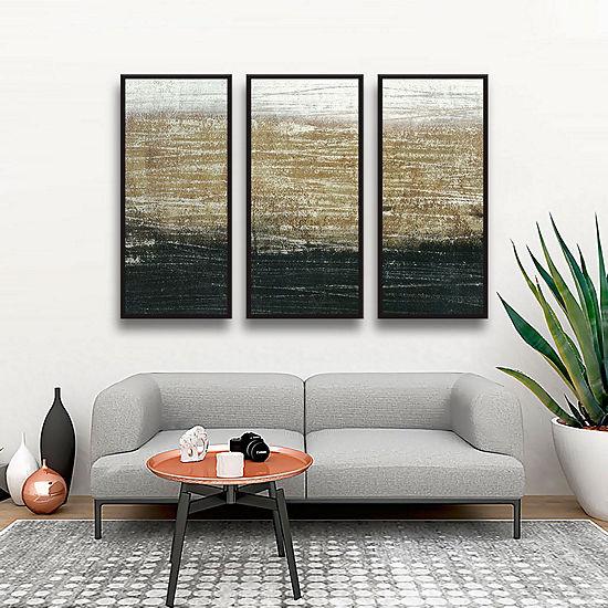 Sandstorm 3-pc Floater-Framed Gallery Wrapped Canvas Set