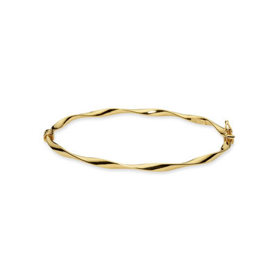 Made in Italy 24K Gold Over Silver Sterling Silver Bangle Bracelet
