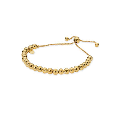Made in Italy Gold Tone 24K Gold Over Silver Sterling Silver Bolo Bracelet