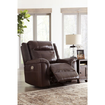 Signature Design By Ashley® Wyline Leather Power Recliner