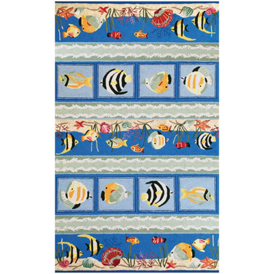 Kas Sea Views Hooked Rectangular Rugs