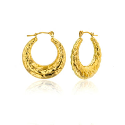 14K Gold 20mm Hoop Earrings