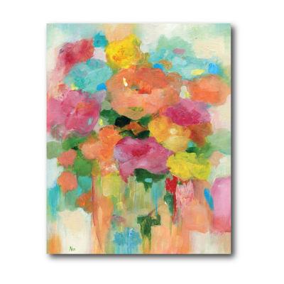 Splashy Flower Ii Canvas Art
