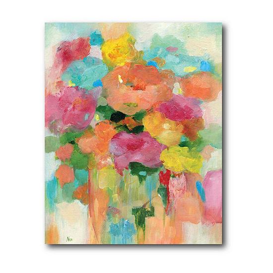 Courtside Market Splashy Flower Ii Canvas Art