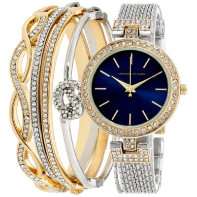 Adrienne Vittadini Womens Silver Tone Bracelet Watch-Adst2621g679-102
