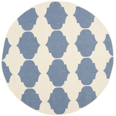 Safavieh Courtyard Collection Celina Geometric Indoor/Outdoor Round Area Rug