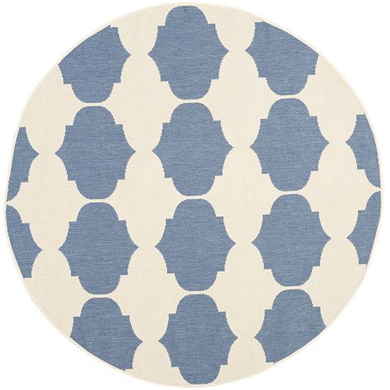 Safavieh Courtyard Collection Celina Geometric Indoor Outdoor Round Area Rug