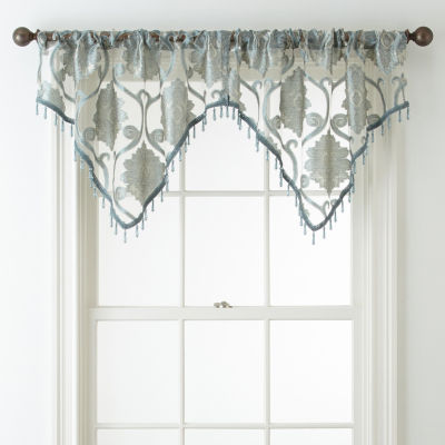 JCPenney Home Belgravia Rod-Pocket Ascot Valance