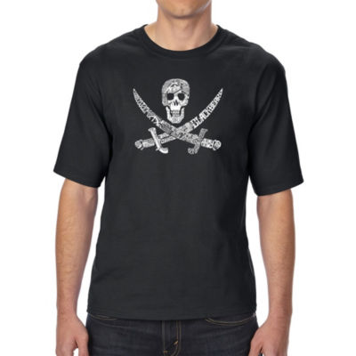 Los Angeles Pop Art Men's Tall and Long Word Art T-shirt - PIRATE CAPTAINS, SHIPS AND IMAGERY