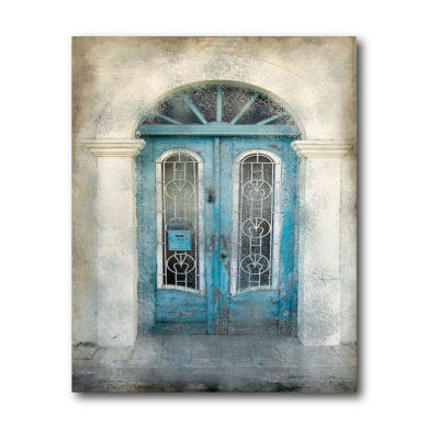Teal Doorway Canvas Art