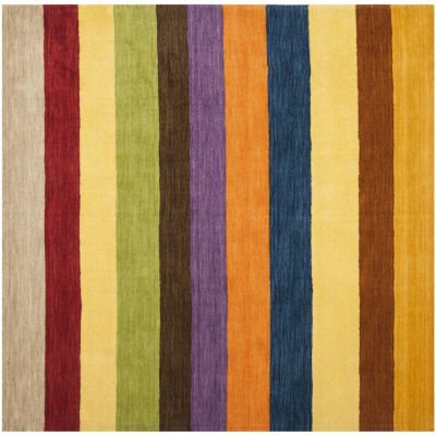 Safavieh Himalaya Collection Jessalyn Striped Square Area Rug
