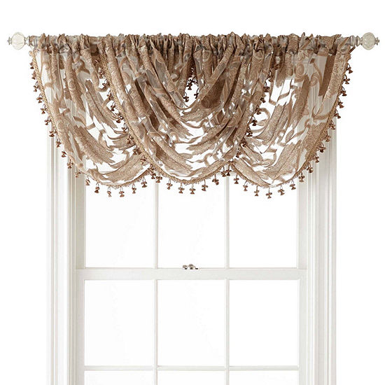 Jcpenney Home Belgravia Rod Pocket Waterfall Valance