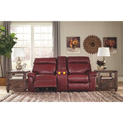Signature Design By Ashley® Duvic Power RecliningLoveseat With Console