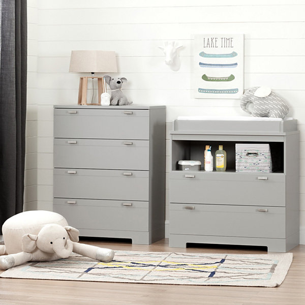 Reevo Changing Table and 4-Drawer Chest Set