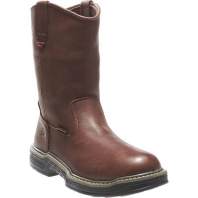 Wolverine Mens Buccaneer Waterproof Slip Resistant Work Boots Pull-on