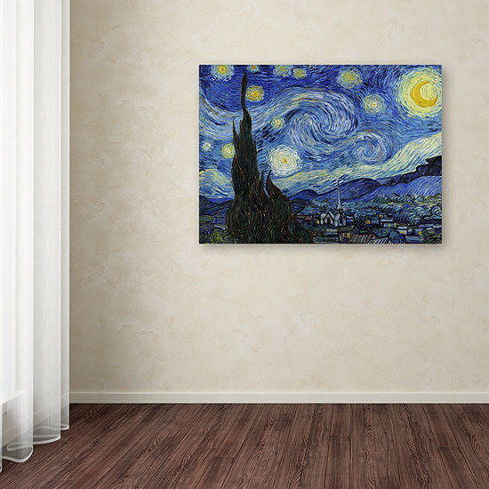 Trademark Fine Art Vincent van Gogh Starry Night Giclee Canvas Art