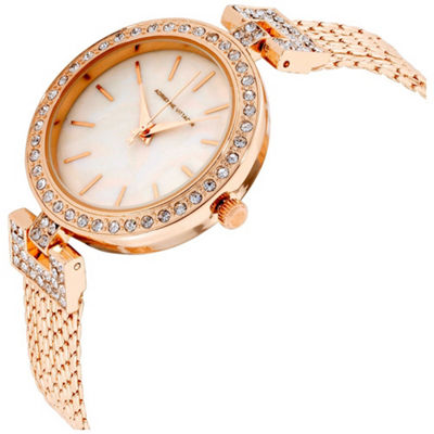 Adrienne Vittadini   Womens Rose Goldtone Bracelet Watch-Adst2621r679-524