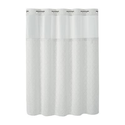 Modern Mosaic Hookless Shower Curtain