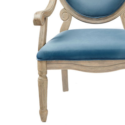 Madison Park Cole Exposed Wood Accent Arm Chair