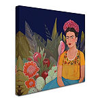Trademark Fine Art Sylvie Demers Frida A Casa AzulRevisitated Giclee Canvas Art