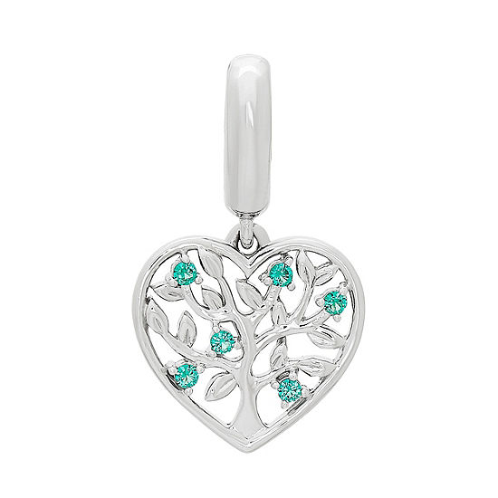 PS Personal Style Green Emerald Heart Charm