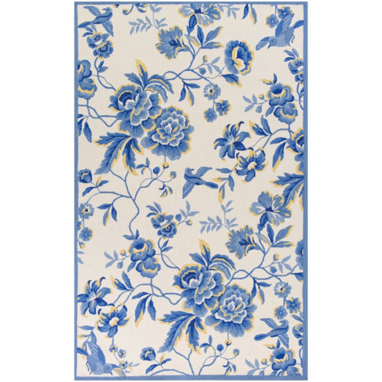 Kas Provence Hooked Rectangular Rugs