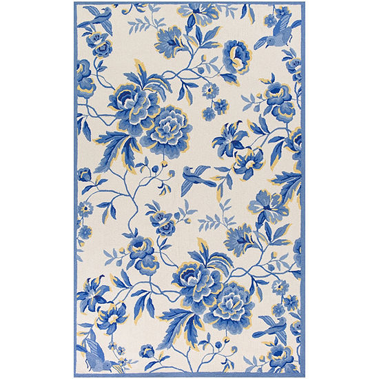 Kas Provence Hooked Rectangular Indoor Rugs