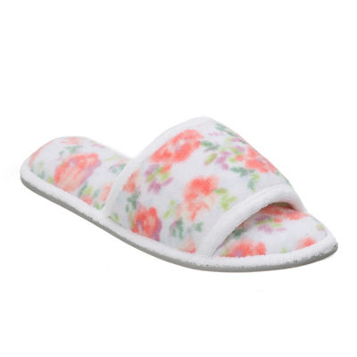 Dearfoams Terry Quilted Slip-On Slippers