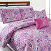 Pacific Coast Textiles 5-pc. Surat Reversible Quilt Set