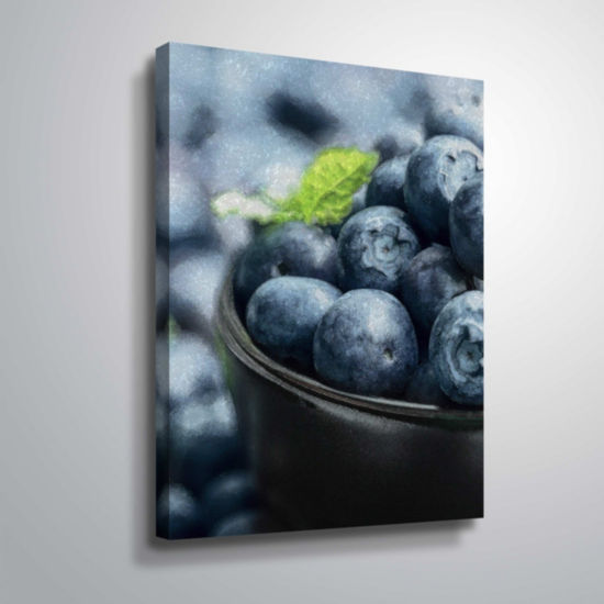 Brushstone Bali Hai Berries Gallery Wrapped Canvas