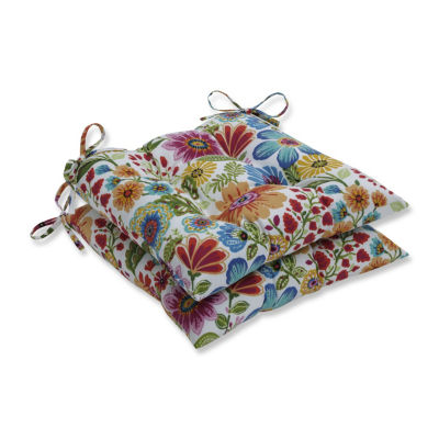Pillow Perfect Set of 2 Gregoire Prima Wrought Iron Patio Seat Cushion