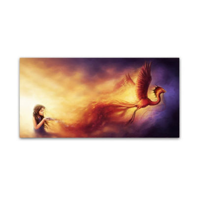 Trademark Fine Art JoJoesArt Out of the Ashes Giclee Canvas Art