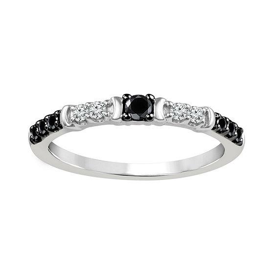 1/4 CT. T.W. Genuine White Diamond Sterling Silver Wedding Band