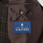 Stafford Year Round Stretch Classic Fit Windowpane Sport Coat Big and Tall