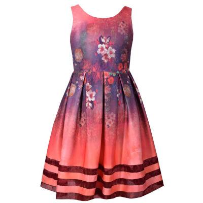 Bonnie Jean Sleeveless Floral A-Line Dress - Big Kid Girls Plus