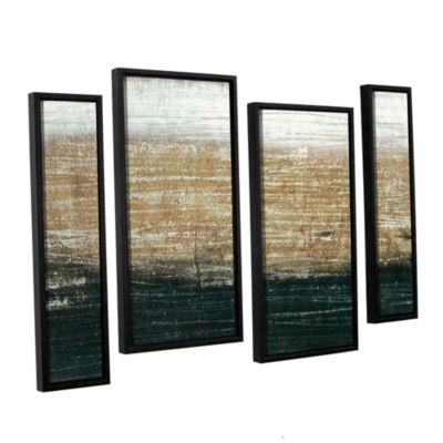 Sandstorm 4-pc Floater-Framed Gallery Wrapped Canvas Staggered Set