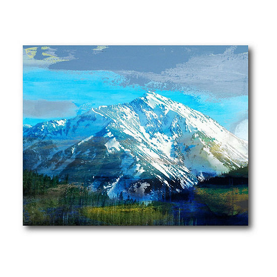 Courtside Market Blue Mountain Canvas Art