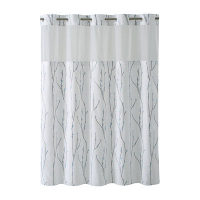 Cherry Bloom Hookless Shower Curtain