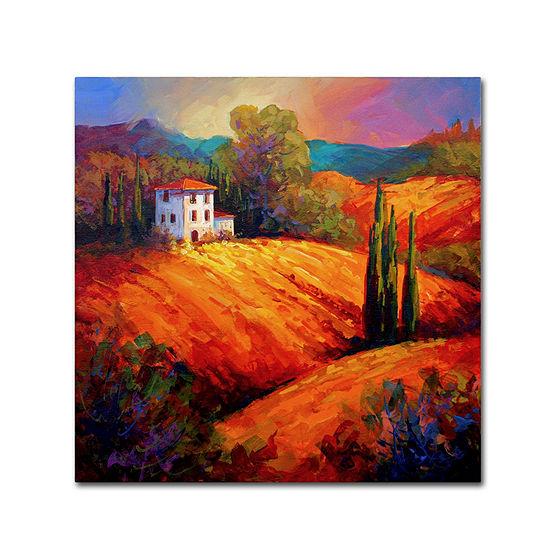Trademark Fine Art Marion Rose Tuscan Villa Evening Giclee Canvas Art