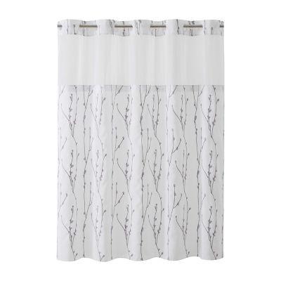 Cherry Bloom Hookless Shower Curtain