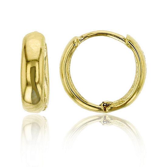 14K Gold 8mm Hoop Earrings