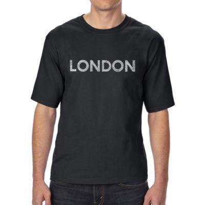 Los Angeles Pop Art Men's Tall and Long Word Art T-shirt - LONDON NEIGHBORHOODS