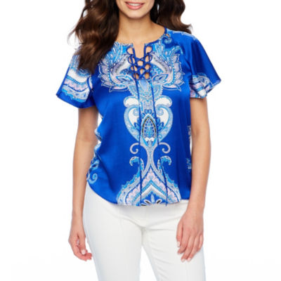 Bold Elements Lace Up Cut Out Top