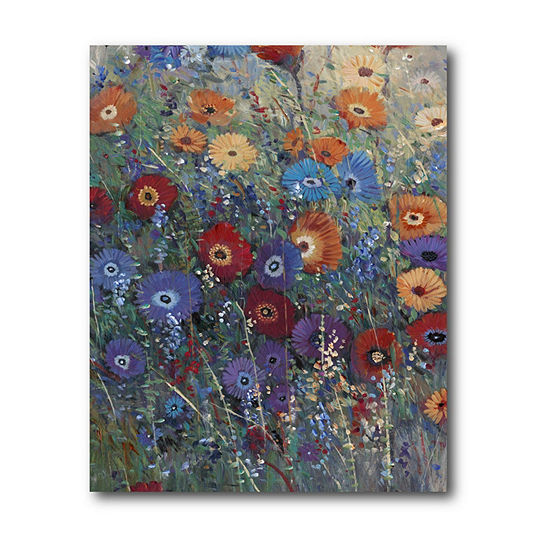 Courtside Market Flower Patch I Canvas Art