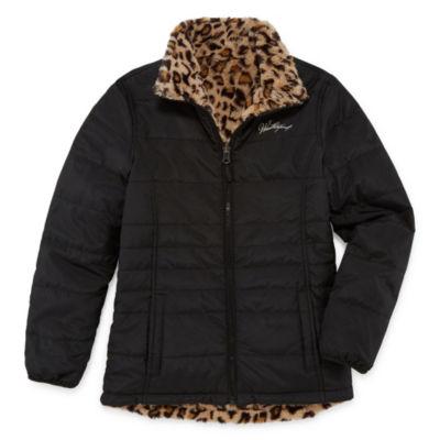 Weatherproof - Girls Fleece Lined Reversible Midweight Puffer Jacket Plus-Big Kid