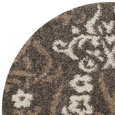 Safavieh Shag Collection Tristen Floral Round Area Rug